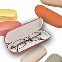 optical cases and eyeglass cases in a variety of colors and styles